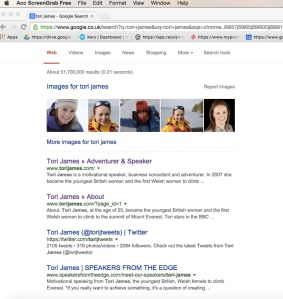 Tori James Google